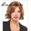 Hot selling short and brown curly human hair full lace wig for ladies