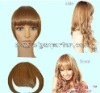 Human hair clips in bangs,clip in hair extensions