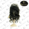 Human hair front lace wig