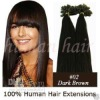 Human hair pre-bonded hair extension Nail/U tip