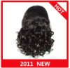 In Stock!!Human Hair big bottom curly Full Lace Wig paypal acceptable