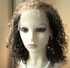 Indian human hair deep wave   full lace short  wig