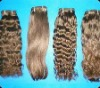 Indian human hair machine weft Natural style