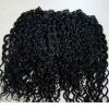 Indian kinky curly hair weaving color 1b# in stock