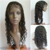 Indian remy hair deep wave 18inch 1B# fashion wig