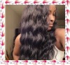 Indian remy hair very soft wave lace wig