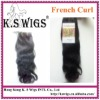 Indian virgin hair french curl 100g/pcs