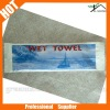 Individual pack disposable airline wet towel