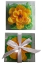 Jasmine Soap flower with strips in square PVC box