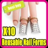 KSD resuable nail art form metal nail form