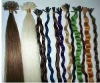 Keratin hair extension Pre-bonded hair extension U-tip 100% indian remy hair