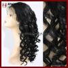 Light Density Virgin Human Hair Lace Wig