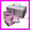 Light Pink  Elegant Gentlewoman Aliminum Makeup Case