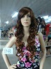 Long deep curl synthetic hair wigs/Brown party wigs(BSFW-2239)