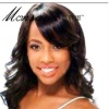 Long deep wave full lace synthetic wigs for black women