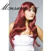 Long kinky curl synthetic wig for fashion women