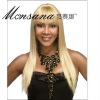 Long silk straight wave synthetic wigs for black women