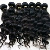 Loose wave/wavy natural hair,brazilian human hair ,easy to dye ,iron ect