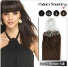 Medium Brown Brazilian remy hair  Micro Loop Hair Extension