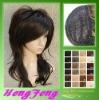 Medium hair wigs black regular synthetic ladies wigs