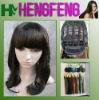 Medium hair wigs black synthetic regular ladies wigs