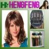 Medium hair wigs bright brown fashion ladies wigs