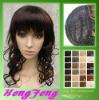Medium hair wigs brown curly synthetic ladies wigs
