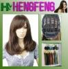 Medium hair wigs brown natural synthetic wigs hair