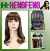 Medium hair wigs dark brown regular fashion ladies wigs