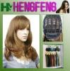 Medium hair wigs light brown regular synthetic wigs hair