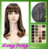Medium hair wigs regular brown fashion ladies wigs