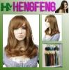 Medium hair wigs synthetic light golden brown wigs hair