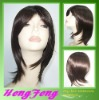 Medium synthetic brown regular daily women wigs