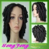 Medium synthetic curly black daily women wigs