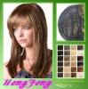 Medium synthetic lace wigs brown mixed hair wigs