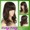 Medium synthetic regular weave brown fashion wigs