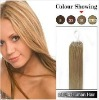 Micro Loop /Ring Hair 22inch Human Hair Extension #16 Golden Blonde