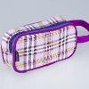 Mini Cosmetic bag in stripe/purple
