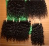 Mongolian curly hair weaving