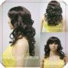 NEW!!21INCH dark brown kinky culy women's charming wig YSL11-2023G
