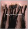 Nail tip hair extension, transparent keratin