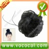 Natural Black Chignon Topknot Bun Hairpiece Wig for Ladies