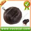 Natural Dark Brown Chignon Topknot Bun Hairpiece Wig for Ladies