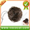 Natural Yellow / Brown Chignon Topknot Bun Hairpiece Wig for Ladies