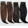 Natural arrival brazilian remy hair extension different colors and textures stock