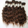 Natural black and brown remi curly peru hair extension