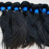 Natural brazilian human hair weft without any processed