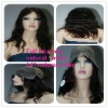 Natural looking 14'' ladies's lace wig natural wave natural color