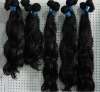Natural remy hair thick ends virgin hair