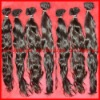 Natural straight-Super quality 100% Brazilian virgin hair extension-hand tide weft